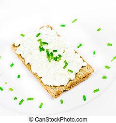crema, queso,