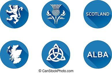 Scotland Flat Icon Set 2 - Set of vector graphic flat icons...