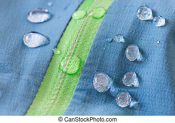 Waterproof textile repels water - The waterproof textile...