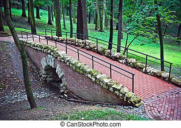 Bridge in park - Small bridge in city park