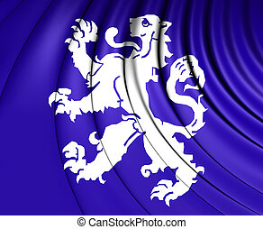 Flag of Heemskerk (North Holland), Netherlands. - 3D Flag of...