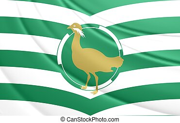 Flag of Wiltshire County, England. - 3D Flag of Wiltshire...