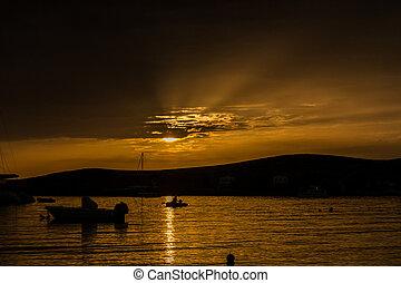 Sunset in Paroikia - Paros - Greece