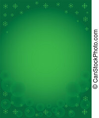 Winter Snowflake Holiday Template - Green Winter Snowflake...