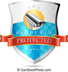 Labels - Security camera, property protected, highest...