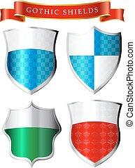 Labesl - Gothic shields