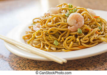 Chinese Shrimp Lo Mein - Delicious chinese food, shrimp Lo...