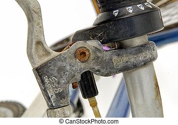 自転車, 自転車, 古い, ブレーキ