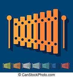 lakás, design:, xilofon,