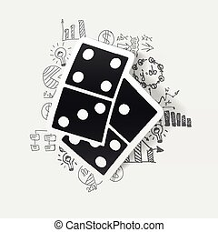 Drawing business formulas: domino