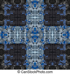 Modern Baroque Cross Pattern - Digital art techinque modern...