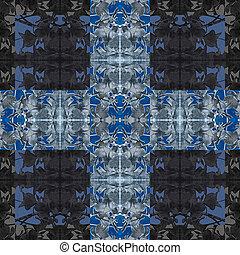 Modern Baroque Cross Pattern - Digital art techinque modern...