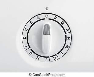 Control panel - A part of control panel of a washing machine