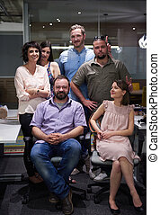 portrait of business team at modern office - portrait of...