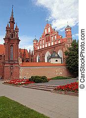 St. Anne's Church in Vilnius, Lithuania. - St. Anne's Church...