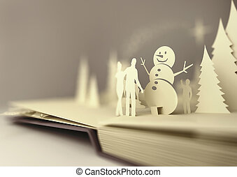 Paper Craft Christmas Story