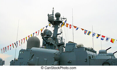 軍, 戦艦, つながれる