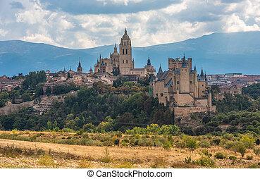 View of Segovia, Castilla y Leon, Spain