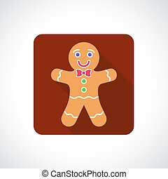Christmas Gingerbread Cookie icon. Infographic symbol with...