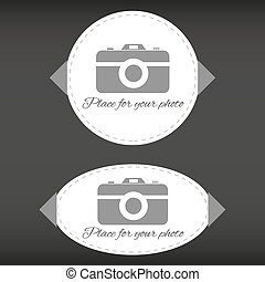 "Set of two ""place for your photo"" t"