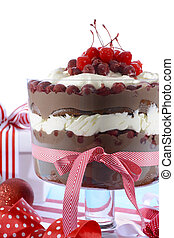 Festive Black Forest Trifle Dessert - Black Forest Trifle...