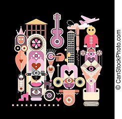Abstract Art Composition - Vector abstract art composition...