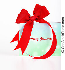 Merry Christmas greeting card, beautiful blue and green...