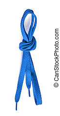 blue shoe lace - blue shoelace isolated on white background