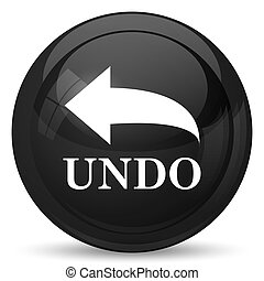 Undo icon Internet button on white background