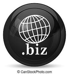 biz icon Internet button on white background