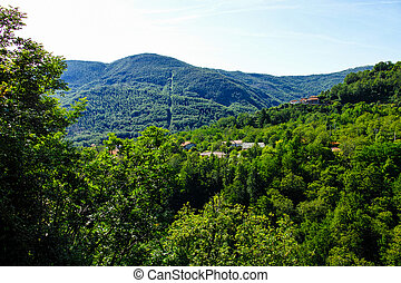 apuan alps a very beautiful mountain in tuscany