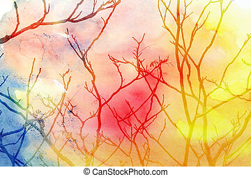 branches of a tree - miracle tree branches of a tree on a...