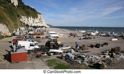 Beer beach Devon fishing equipment - Beer beach Devon...