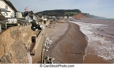 Sidmouth coastal town of Devon uk - Devon coastal town of...