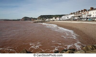 Devon coast town Sidmouth England - Devon coast town of...