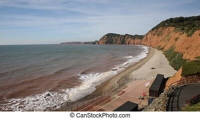 Sidmouth Devon elevated view west - Sidmouth Devon with an...