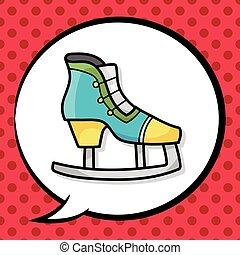 Roller skates doodle