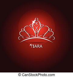 Decorative tiara beautiful shining, vector illustration
