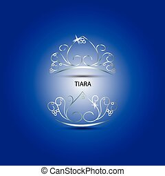 Decorative tiara in blue background - Decorative tiara...