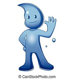 Water Cartoon Mascot Character