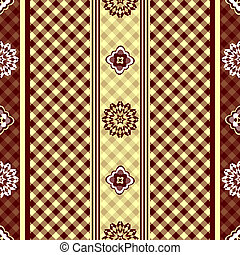 Seamless floral pattern - Seamless floral brown and yellow...