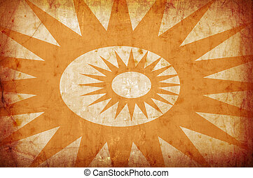 orange vintage grunge background with sun rays for multiple...