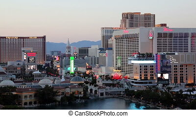 Las Vegas Strip view at Dusk Timelapse