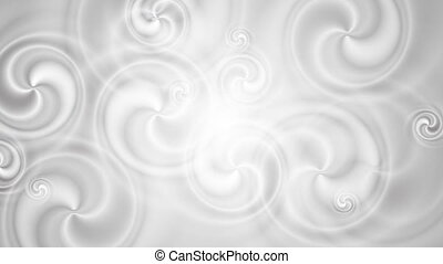 Grey pearl swirl video animation. Seamless loop design