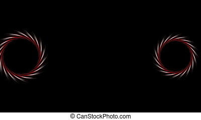 Abstract dark red logo design on black background. Video...