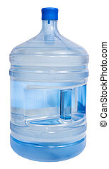 closed 5 gallon plastic bottle with drinking water - closed...