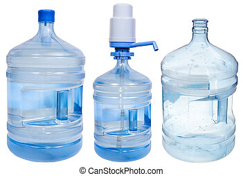 set of19 liters Drinking Water bottles - full, empty and...