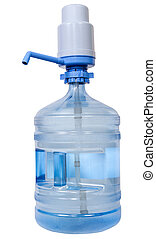 Manual Pump Dispenser on 19 liter Water bottle - Hand Press...