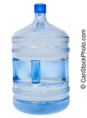 closed 19 liter plastic bottle with drinking water - closed...