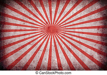 red vintage grunge background with sun rays for multiple...